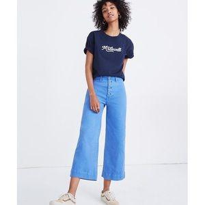 Madewell Emmett Wide-Leg Crop Pants - Button Front